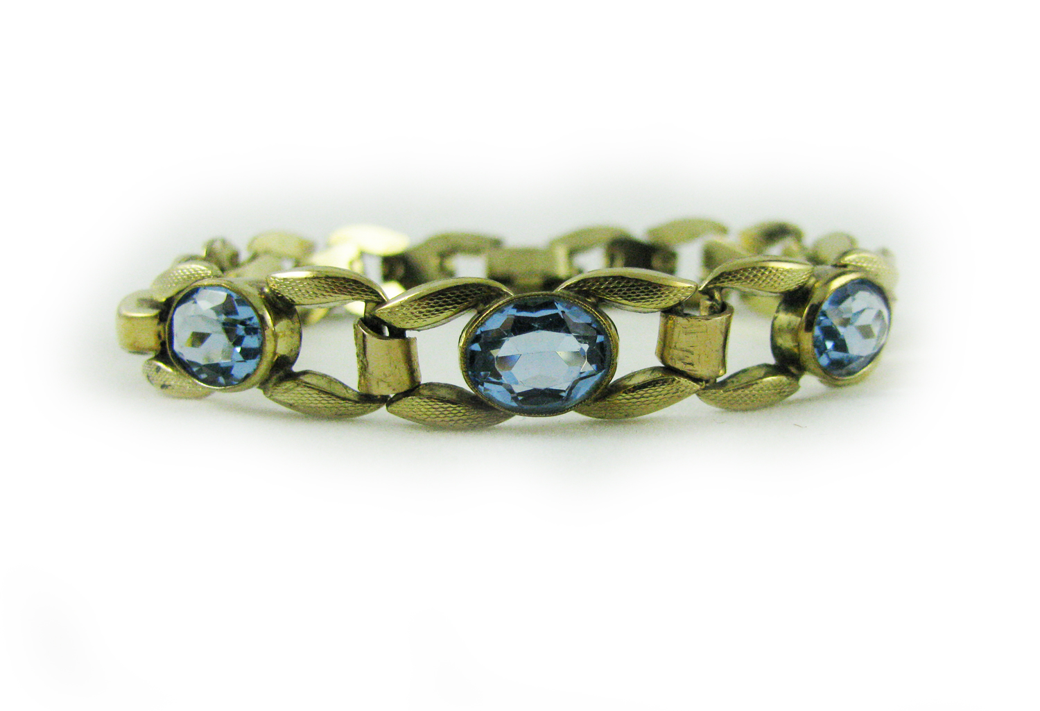 1960's Aqua Blue Crystal Bracelet