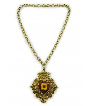 1970s Regal Drum Major Medallion Necklace