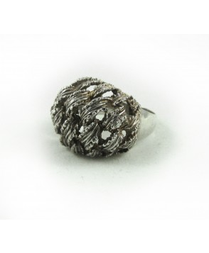 Art Modern Deco 925 Real Silver Ring c.1960