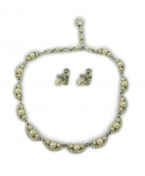 1940s bogoff jewelry set necklace earrings