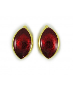 Trifari Red Enamel Earrings